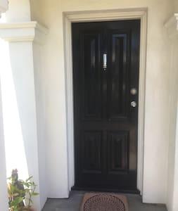 Front Door Entrance .