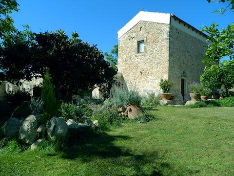 Villa Venetico stone retreat with garden