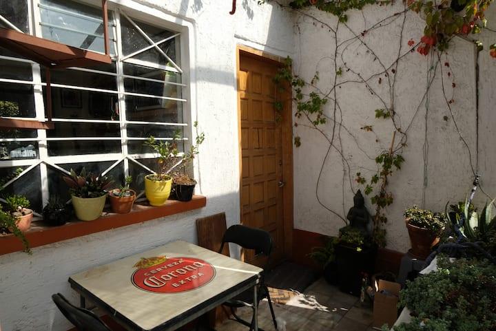 One bedroom in Coyoacan.