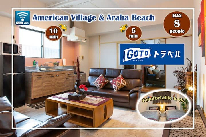 Okinawa,Chatan,Parking lot/Resort House,70㎡