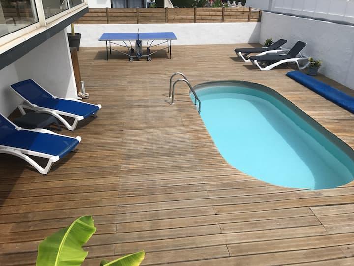 Appt 50m2 grande terrasse piscine 7mn mer/Biarritz
