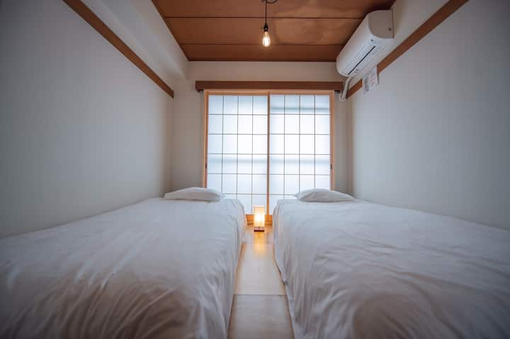 Japanese Modern Twin Room 1(Shared Bathroom)