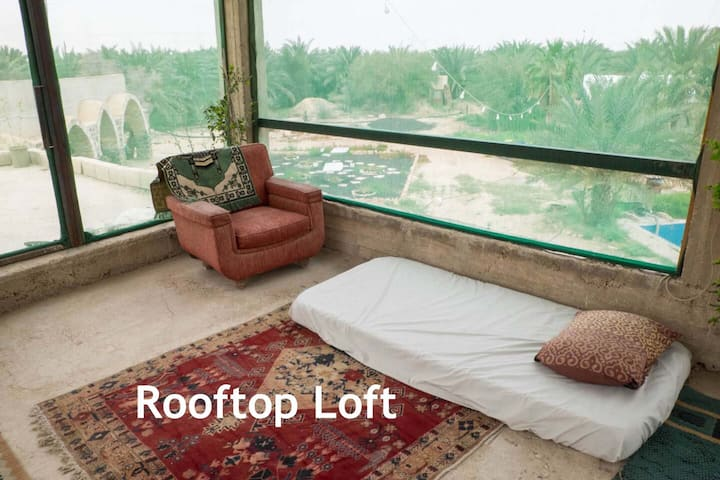 Peaceful farm stay in Jordan Valley - Rooftop Loft