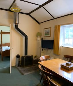 Lounge to double bedroom - the whole cottage is on one level - no steps