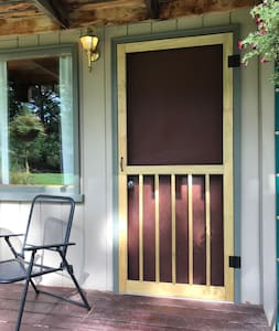 Doorway is 32 inches or larger.