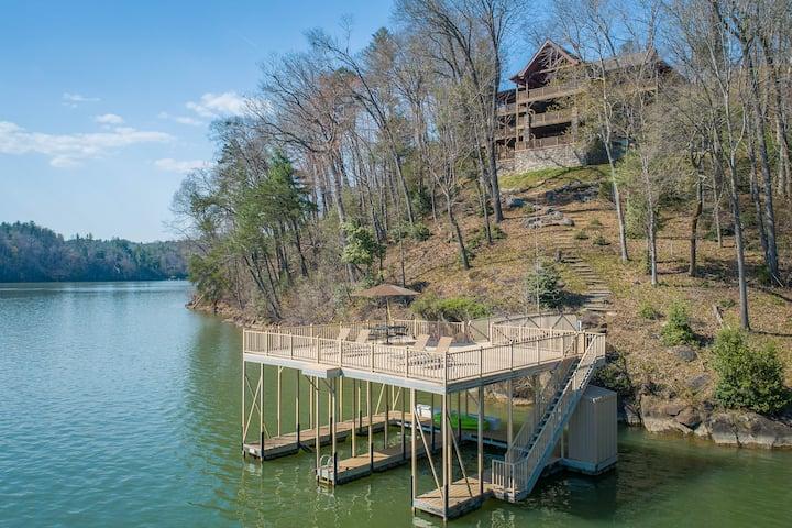 Lakefront Log Luxury