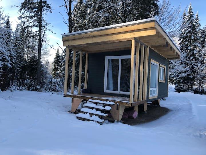 Yourte/camp avec vue sur Rivière Jacques-Cartier