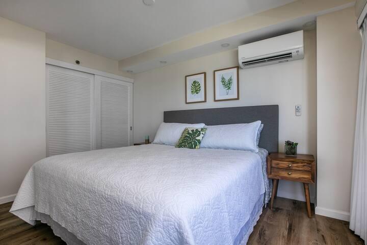 Also, separate split AC unit and spacious closet