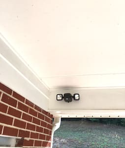 Motion Activated Security lighting that lights the ramp and carport