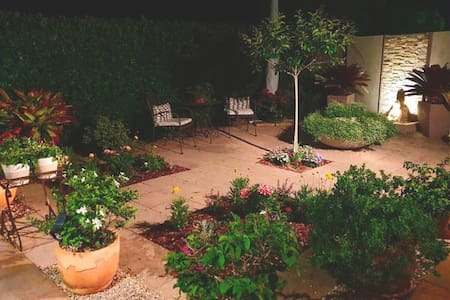 We are very conscious of access lighting. From the front driveway through the courtyard and along the path to The Studio door is a mixture of fixed and sensor lighting.