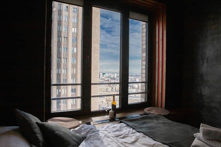 Черный Ворон SoulRus(30B)Апартаменты в Небоскребе