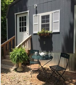 The front door and side doors are 35 inches wide but you must climb 4 steps to enter the Tiny House.
