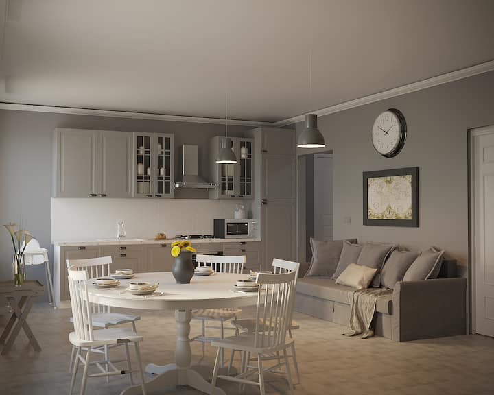 New Beach apartment in the central street Gioberti