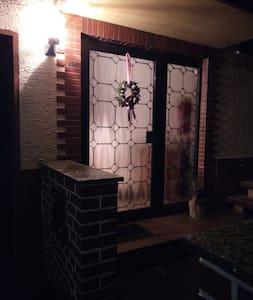 Beleuchteter Eingangsbereich
