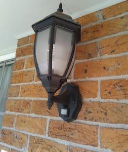 Bright sensor light at front door