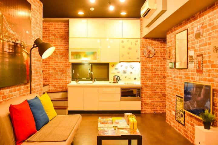WowLoft@SanChong#6 Brand-New MRT LOFT House(1~8人)