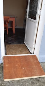Ramp at the  doorway for wheelchair access
