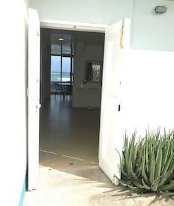 Front door to PARAISO.  No stairs, no steps.