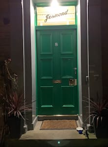 The front door has an led floodlight above which comes on automatically when you approach.
