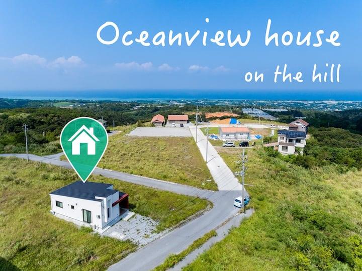 海の見える丘上の宿!無料駐車場2台!古宇利島・美ら海水族館まで車20分!