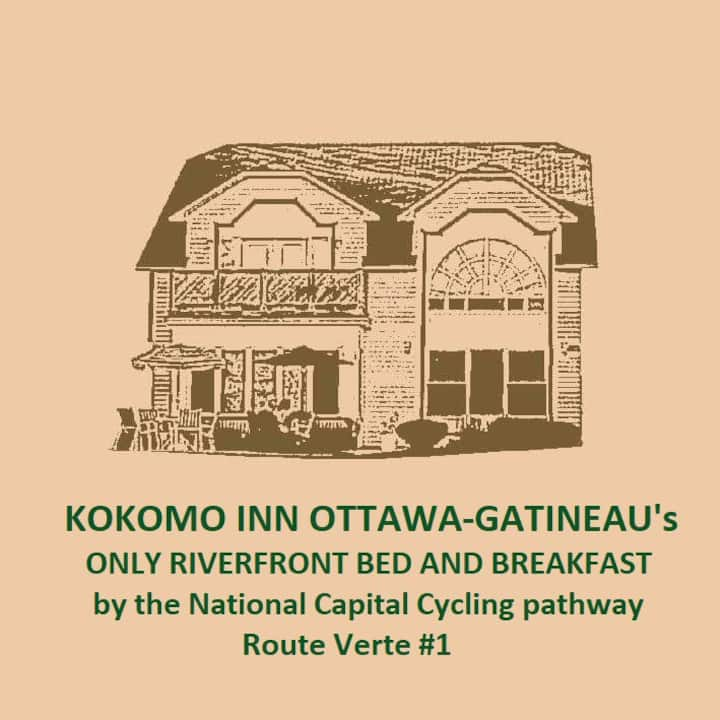 ONLY Riverfront B&B Bed and Breakfast in Downtown Ottawa-Gatineau