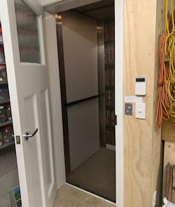 Access to lift is level from internal garage