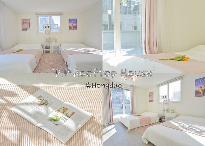 ★New Open★Hongik Univ Stn 5min!★P.P Rooftop House★