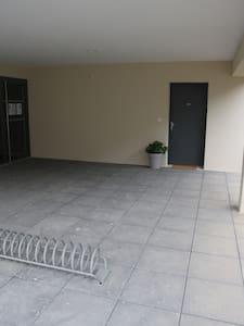 Eclairage automatique avec détection de mouvement tout le long du sentier et jusqu'au hall de l'immeuble.