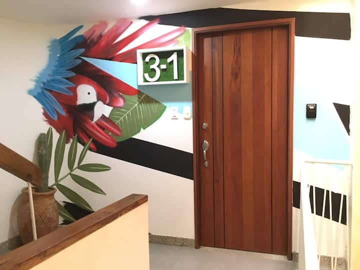 3-1 Artsy Apartment in the Heart of Santa Marta