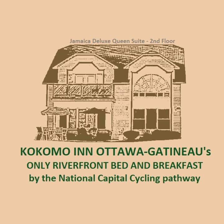 Kokomo Inn B&B-JAMAICA Queen suite Romantic Getaway Tropical Riverfront Adult-Only B&B. Beautiful Ottawa View #175420
