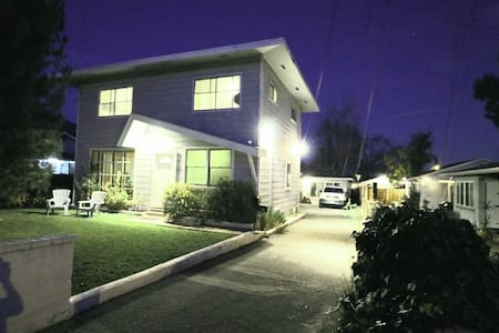 Sensored lighting throughout.  As you walk on to the property, lights turn on automatically for your safety and security. House is in the rear for additional privacy.