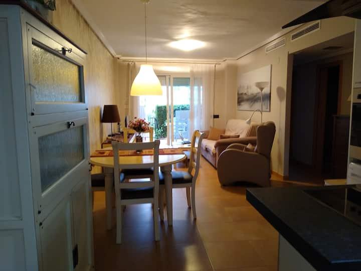 Beautiful beachside apartment in Alcossebre, 2 br
