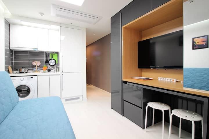 SJ[Airport 1.7km, DutyFS 1km]1 Queen Bed Residence