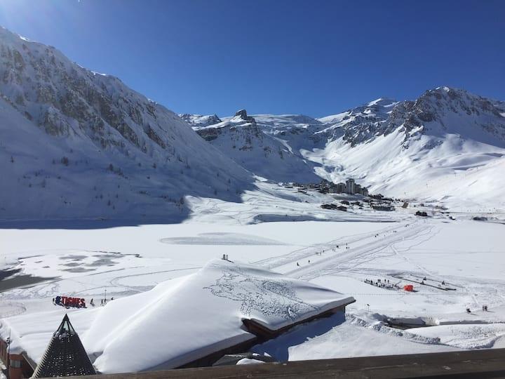 Palafour studio 1008, best views of Tignes le lac!
