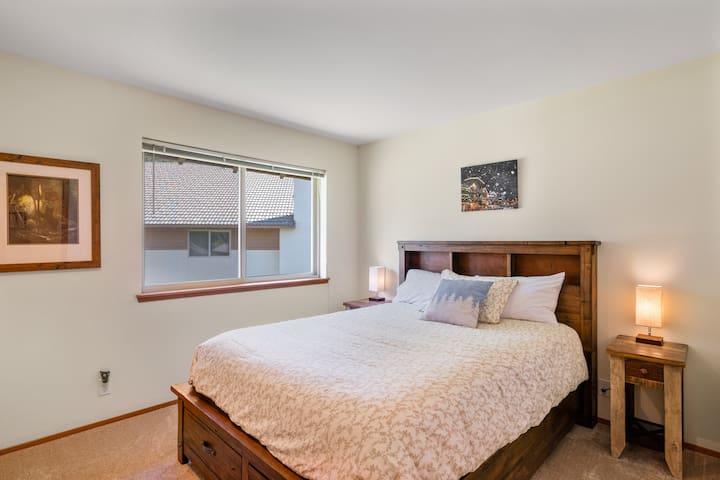 2nd bedroom has Queen bed.