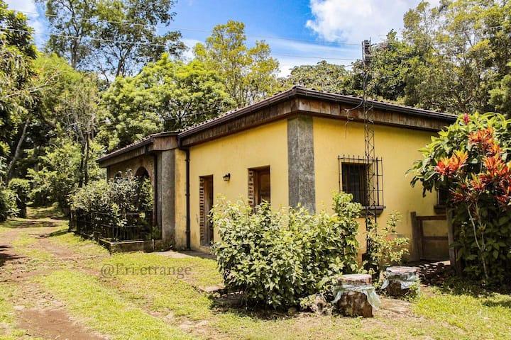 Encantadora casa colonial en finca de cafe