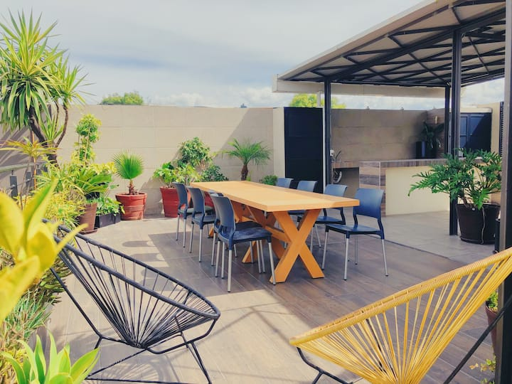 ⭐Roma Norte Full Apartment with roof garden