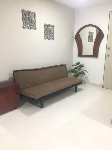 Sofá cama sencillo