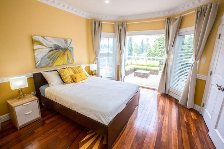 Private Bedroom + Patio overlooking backyard!