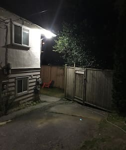 Path lights up as you walk towards it by the motion sensor light