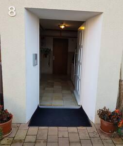 Hauseingang ebenerdig, Türbreite100 cm