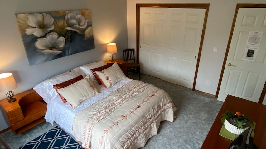 Queen Bed Bedroom with Ample Closet Space