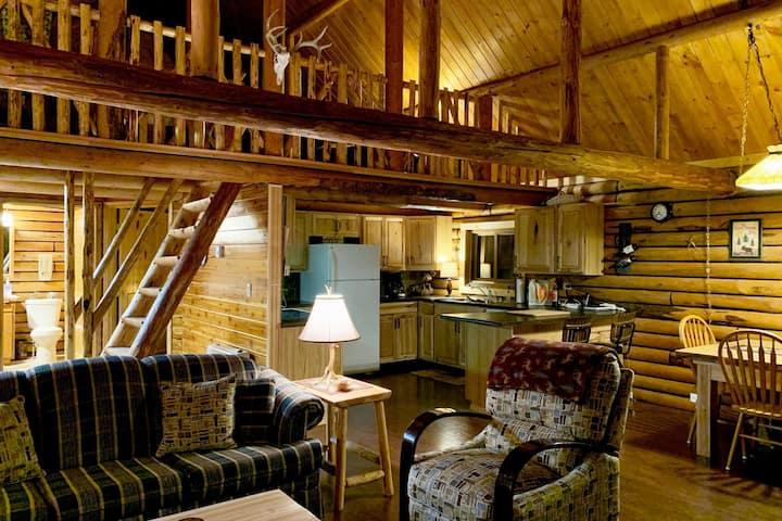 True Montana log cabin on 4 quiet acres.
