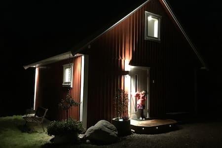 Góð lýsing við gangveg að inngangi