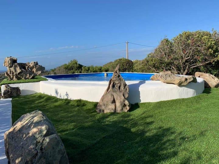 Villa con vista mare giardino piscina San Pasquale