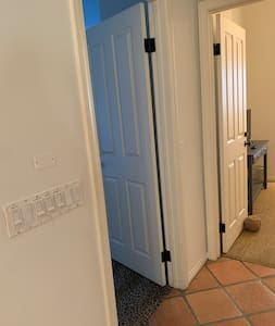 Direct entry into bedrooms. There are no hallways in this floor plan.