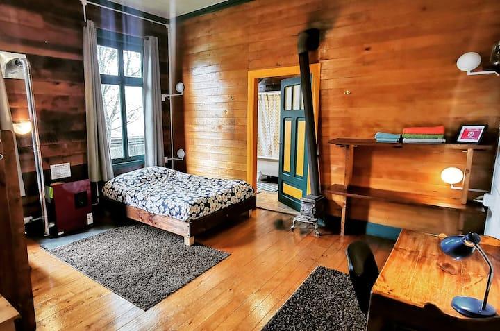 MaPatagonia Patrimonial, habitación baño privado