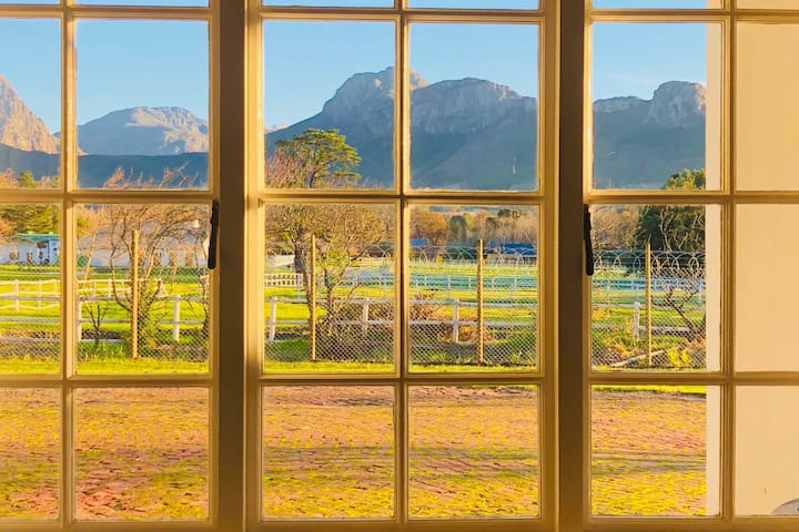 Pretty mountain views from the bedroom window.