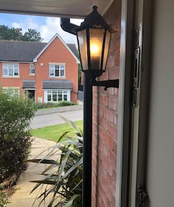 Front entrance showing automatic light by the door to light the pathway