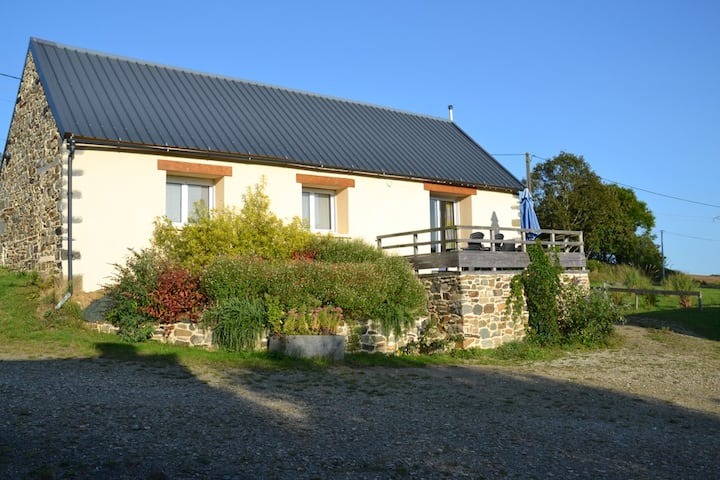 Maison à la campagne avec belle vue dégagée